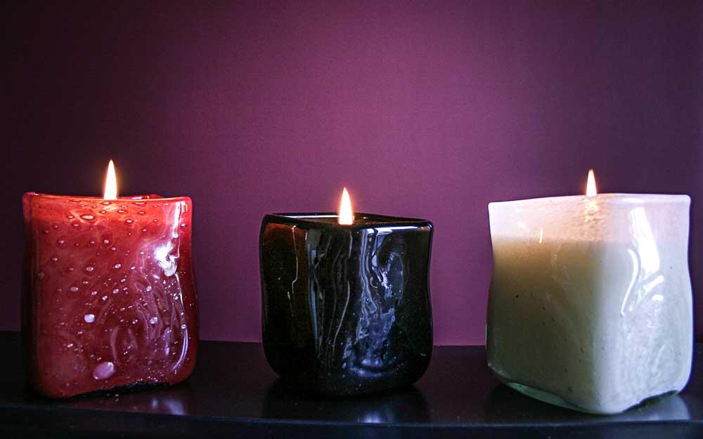 Φυσητό γυαλί με φυτικό αρωματικό κερί