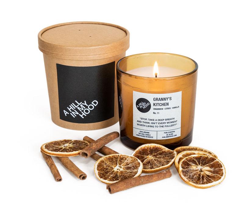 Μελί δοχείο με αρωματικό κερί σόγιας και κουτί - Α HILL IN MY HOOD